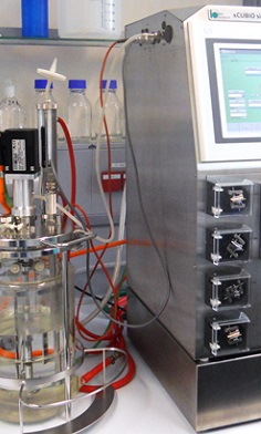 xCUBIO single with 5 l Fermenter, autoclavable