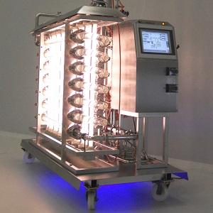 Dampf Sterilisierbare Photobioreaktoren xCUBIO phar in-situ
