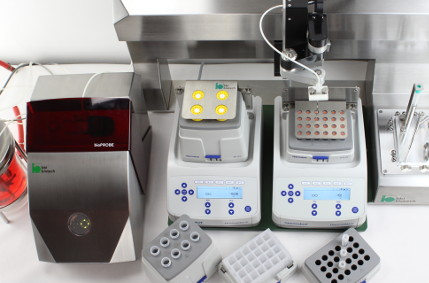 Aseptic sampling and cooled storage for standard tubes with bioPROBE single & multiSAM